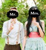 Mr. Mrs. Wedding Signs Photo Booth Props Photobooth Banner Wedding Party Decoration Cake Topper