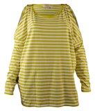 Michael Kors Women's Cold-Shoulder Striped Top-AW-XL