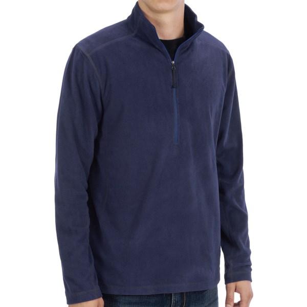 White Sierra Alpha Beta Fleece Shirt - Zip Neck, Long Sleeve (For Men)