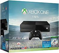 Microsoft Xbox One Ea Sports Madden Nfl 16 Bundle - 1 Tb Hard Drive - Wireless - Black - Ati Radeon - 1920 X 1080 - 1080p - Blu-ray Disc Player - Gigabit Ethernet - Wireless Lan - Hdmi - Usb - Octa-core (8 Core) - Matte Black Kf6-00064