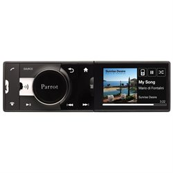 Parrot Car Flash Audio Player - 220 W RMS - iPod/iPhone Compatible - Single DIN - LCD Display - MP3 - AM, FM - Secure Digital (SD) Card - Bluetooth - USB