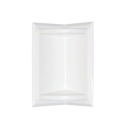 Swanstone Ss7211-010 Corner-mount Solid Surface Rectangular Soap Dish In White