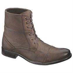 Men's Hush Puppies Casual Boots Lace-Ups Motorcycle Leather vintage