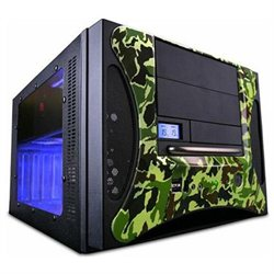 Apevia X-QPACK2-CM/500 Black/Camouflage Aluminum Micro ATX Tower / Computer Case with 500W Power Supply