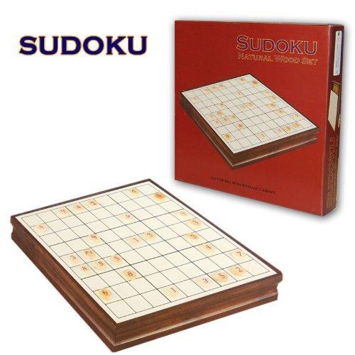 Wooden Furniture SUDOKU Set Game Storage Cabinet