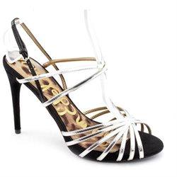 Sam Edelman Harlette Womens Silver Open Toe Leather Dress Sandals Shoes