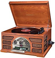 Crosley Cr66-pa Rochester 5-in-1 Stereo Turntable Sound System - Paprika