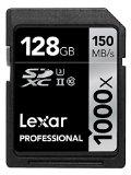 Lexar Professional 1000x 128GB SDXC UHS-II/U3 Card (Up to 150MB/s read) w/Image Rescue 5 Software LSD128CRBNA1000