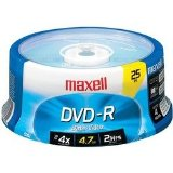 Maxell - 4.7GB DVD-Rs (25-ct Spindle)