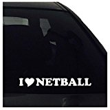 I Love Netball Vinyl Decal Sticker