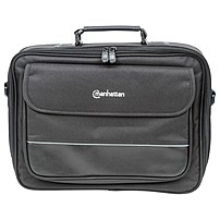 "Manhattan Times Square 15.4"" Widescreen Laptop Briefcase - Top Load Laptop Briefcase Fits Most Widescreens Up To 15.4"" 421430"