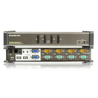MiniView Dual View KVM Switch GCS1744 - KVM / audio / USB switch - 4 ports - desktop