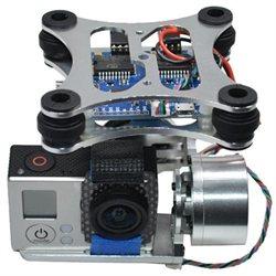 DJI Phantom Gopro 2 3 CNC Metal Brushless Camera Gimbal with Motors & Controller