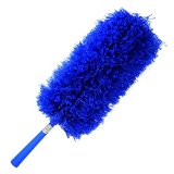 *SALE* Duster: Fluffy Microfiber by Cleans Green, Bendable, Extendable with Hand Wand Threaded for Long Handle & Extension Pole - Best for Cleaning & Dusting Blinds, Ceiling Fan, Car, Cobweb, even Floor - Better than Mop, Cloth, Towel, Brush, Feather, Gloves, Mitt Sets - Reusable, Washable, No Refills Required   Risk Free with Product Replacement Policy