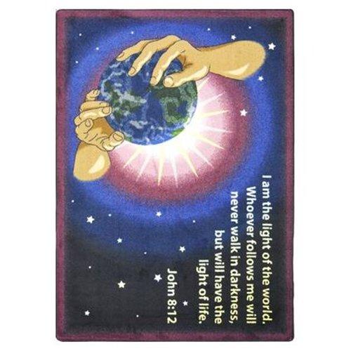 Educational - Faith Based I Am The Light Multi Novelty Rug - Size: 7'8 x 10'9