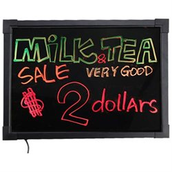 New 16x12 inch Illuminated Erasable Neon LED Restaurant Writing Menu Board Sign w/ Remote