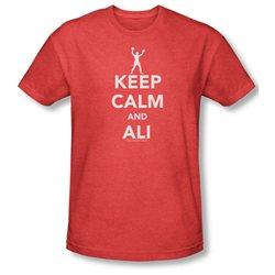 Mens ALI Short Sleeve KEEP CALM AND ALI Large Heathered T-Shirt Tee