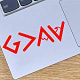 FANGJIE God is Greater Than The Highs and Lows Vinyl Decels Stickers for Bumper Laptop Cars Accessories Cups