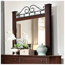 Standard Furniture Charleston Rectangular Mirror In Brown Cherry