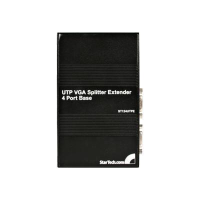 Startech.com St124utpe 4 Port Vga Video Extender Over Cat 5 (utpe Series) - Video Splitter - Desktop