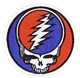 Grateful Dead - Steal Your Face - Embroidered Iron on Patch - 3