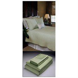 Home Source 50500QNG05 100 Percent Bamboo Queen Flat Sheet - Grass