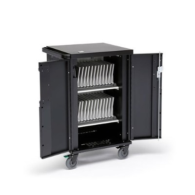 Bretford Manufacturing Tcorex36b Core X Charging Cart Ac For Up To 36 Devices With Rear Door