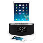 Ihome Idl46 Lightning Dock Clock Radio And Usb Charge/play For Ipad/ipod And Iphone 5/5s And 6/6plus Ipad Air /ipad Mini - Stereo - Apple Dock Interface - Proprietary Interface - 2 X Alarm - Fm - Usb Idl46gc