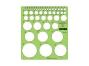 """Staedtler 977110 Combo Circle Template, Circle - 8.3""""7.3"""" - Green Type: Stencils & Templates Color: Green Sizes/Dimensions: 8.3""""7.3"""""""