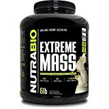 NutraBio Extreme Mass 6 lbs (Vanilla) - High Calorie Mass Gainer Supplement