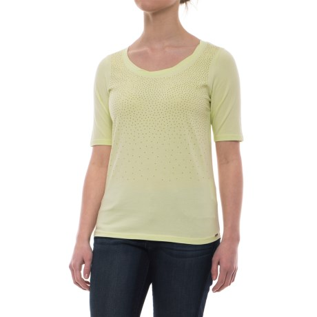 Studded Ombre Effect T-shirt - Short Sleeve (for Women)