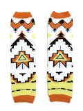 KWC - American Indian Tribal Orange Baby Toddler Leg Warmer (Triangle Tribe)