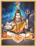 Lord Shiva / Shree Shankar / God Shiva / Mahadev Poster (Size: 12X16 Inches Unframed)