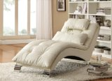 Coaster Home Furnishings Contemporary Chaise, White