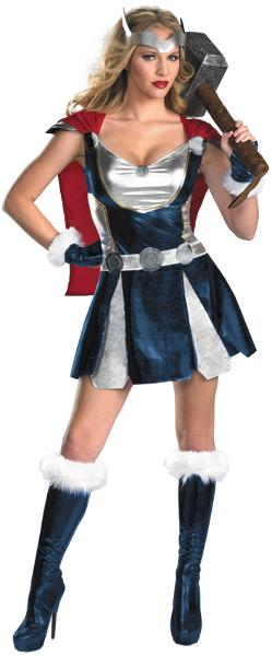 Women's Costume: Sassy Thor Girl- Small