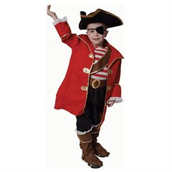 Deluxe Pirate Captain Halloween Costume Set - Small 4-6