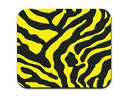 Zebra Print - Yellow and Black Mousepad Mouse Pad