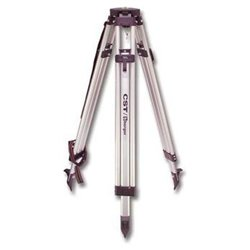 CST/berger 60-ALQC25 Contractor's Aluminum Flat Head Tripod with Quick Clamp and 3-1/2-in-8 Thread