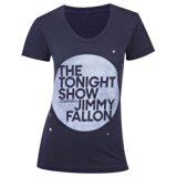 The Tonight Show Starring Jimmy Fallon Women's Junior Fit T-Shirt Blue Medium