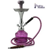 16'' Purple Lotus Hookah Cool Modern Hookah Nargila Purple Shisha