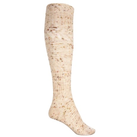 Wheat Fields Knee-high Socks - Merino Wool, Over The Calf (for Women)