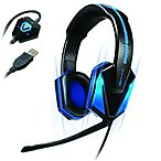 Accessory Power Engxh10100bkus Enhance Gx-h1 Pc Gaming Headset With Virtual 7.1  - Surround - Black/blue - Usb - Wired - 16 Hz - 20 Khz - Over-the-head - Binaural - Circumaural