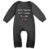 NEWBABY Love Heart Equation Math Toddler Clothes For 6-24m Baby