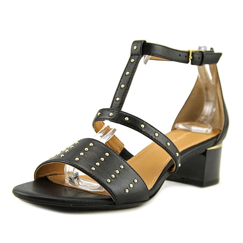 Calvin Klein Womens Divina Open Toe Ankle Strap D-orsay Pumps, Black, Size 8.0