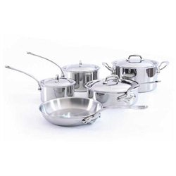 Mauviel Cookware M'Cook 9 Piece Stainless Cookware Set