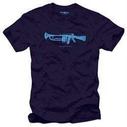 Friend Or Foe Trumpet Rifle T-Shirt, Blue Violet S