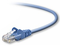 Belkin A3L791B14 BLU S 14 Feet Cat5e Snagless Patch Cable allows you to connect your IT hardware to the network, providing reliable performance