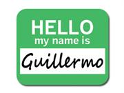 Guillermo Hello My Name Is Mousepad Mouse Pad