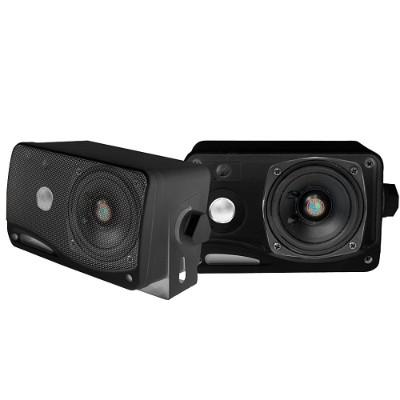 Pyle Plmr24b 3.5'' 200 Watt 3-way Weather Proof Mini Box Speaker System - Black