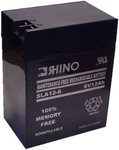 Rhino Batteries Sla 12-6 Sealed Lead Acid Rechargeable Battery